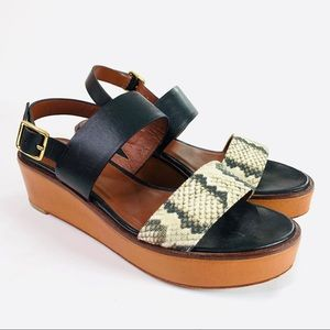 Cole Haan Cambon Snake Wedge Sandal Size 6.5 B
